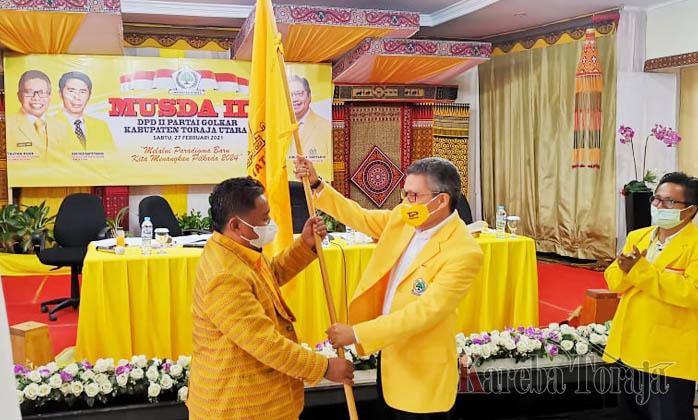 Yohanis Bassang Terpilih Aklamasi Pimpin Golkar Toraja Utara