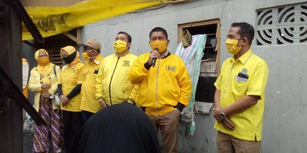 Golkar Parepare Siap Perjuangkan Korban Kebakaran Ujung Sabbang Dapat Bantuan Bedah Rumah