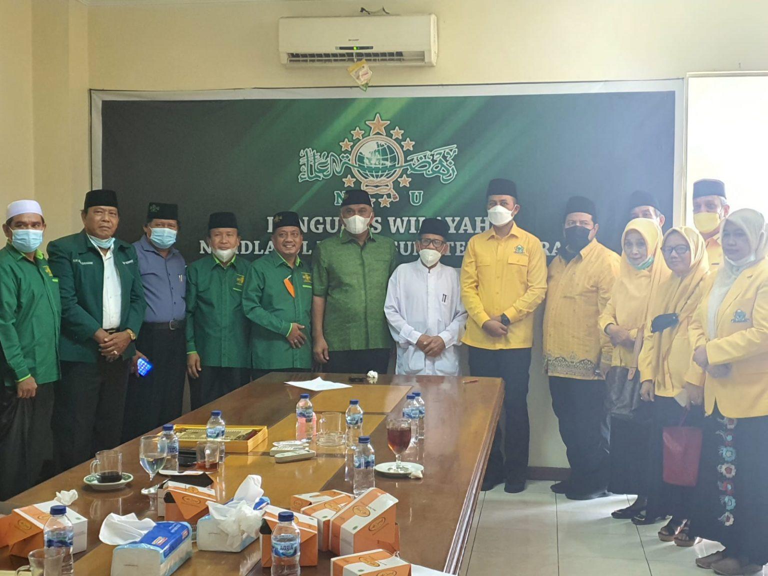 Ingin Golkar Sumut Dibimbing Ulama, Musa Rajekshah Sambangi PW NU dan PW Muhammadiyah