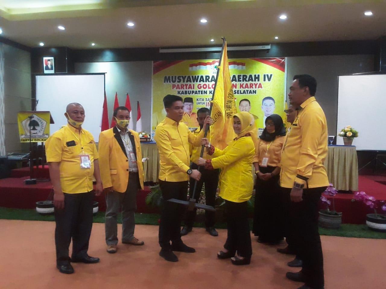 Irham Kalenggo Terpilih Kembali Jadi Ketua Golkar Konawe Selatan