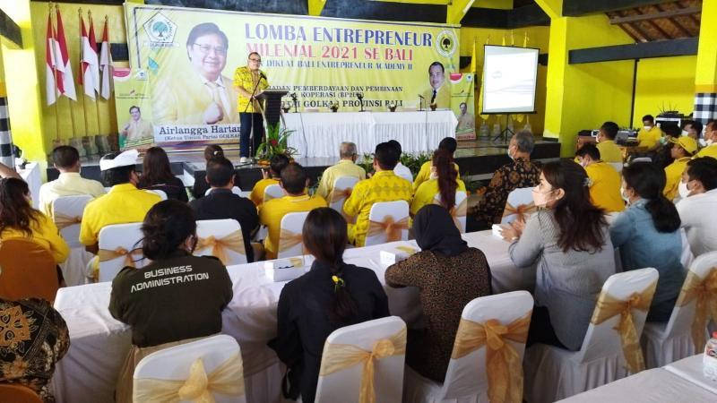 Golkar Bali Dorong Kebangkitan Entrepreneur Milenial di Masa Pandemi COVID-19
