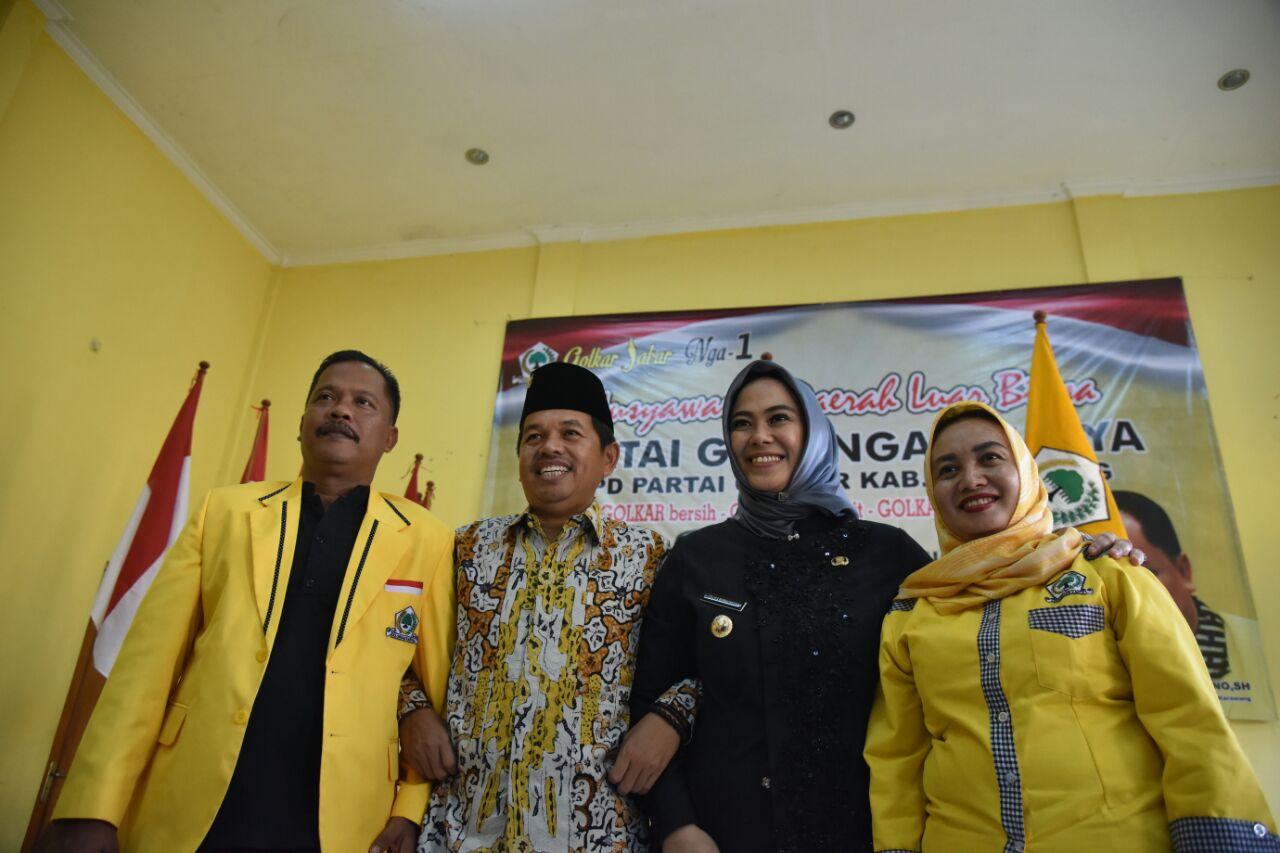 Syukur Mulyono Ungkap Golkar Bakal Dukung Cellica Nurrachadiana di Pilkada Karawang 2020