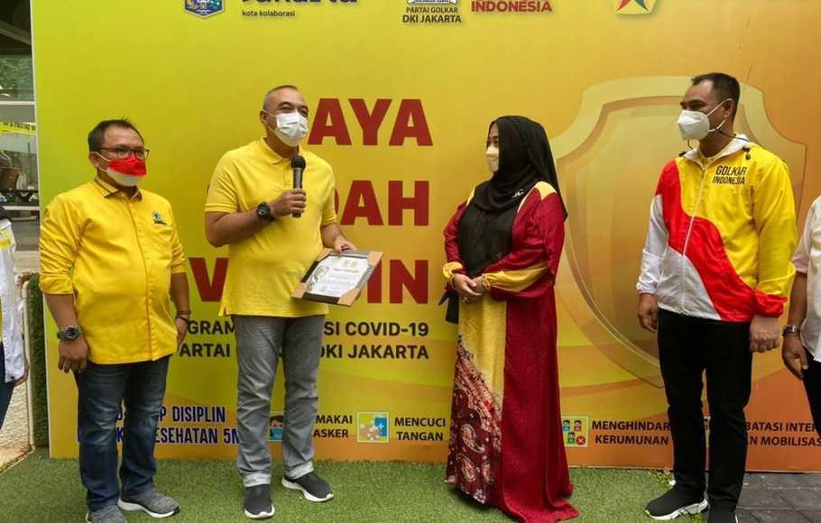 Golkar DKI Jakarta Gelar Vaksinasi COVID-19 Massal Untuk 3.600 Masyarakat Umum