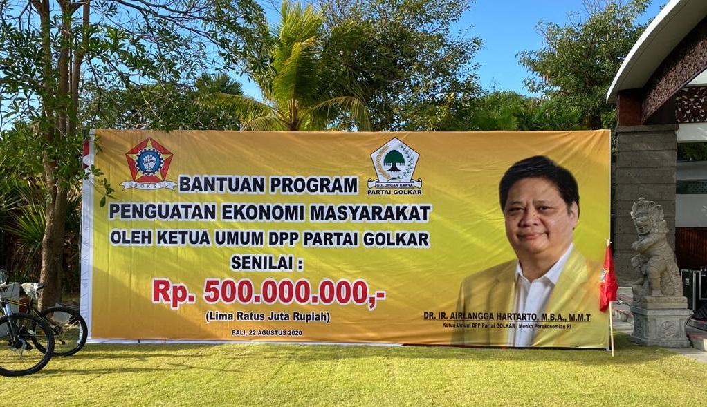 Perkuat Ekonomi Masyarakat, SOKSI Bali Berikan Bantuan Modal Ratusan Juta Rupiah