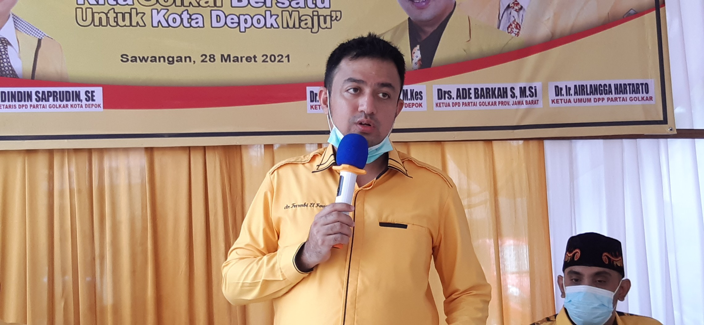 Farabi Arafiq Tegaskan Golkar Kota Depok Dukung Airlangga Hartarto Capres 2024