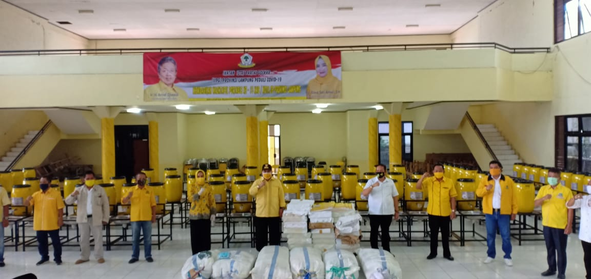 IIPG Lampung Bagikan 100 Wastafel Portabel dan 15 Ribu Masker