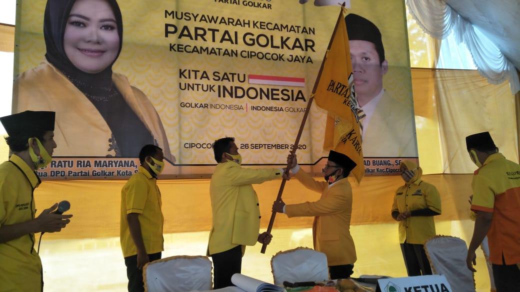 Mad Buang Terpilih Kembali Jadi Ketua PK Partai Golkar Cipocok Jaya