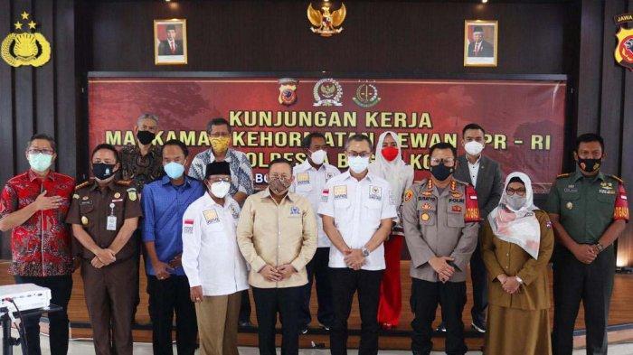 Minta Masukan Forkopimda, Andi Rio Idris Padjalangi Pimpin Kunker MKD DPR RI ke Polresta Bogor Kota