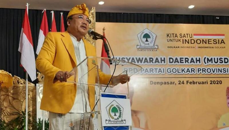Sugawa Korry Tak Pernah Bermimpi Bisa Jadi Ketua Golkar Bali