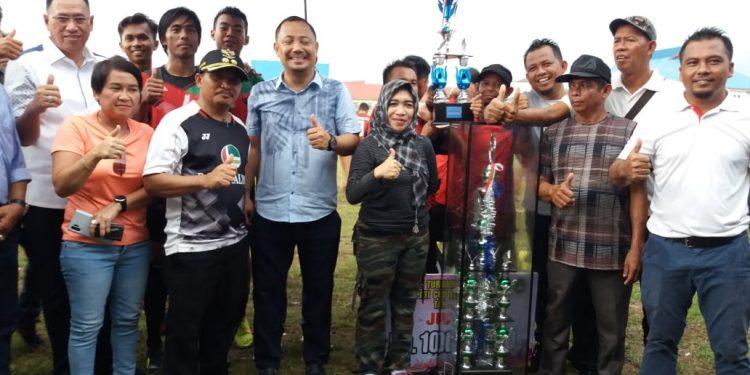Eddy Raya Samsuri Tutup Turnamen Sepakbola Bupati Barsel Cup 2019