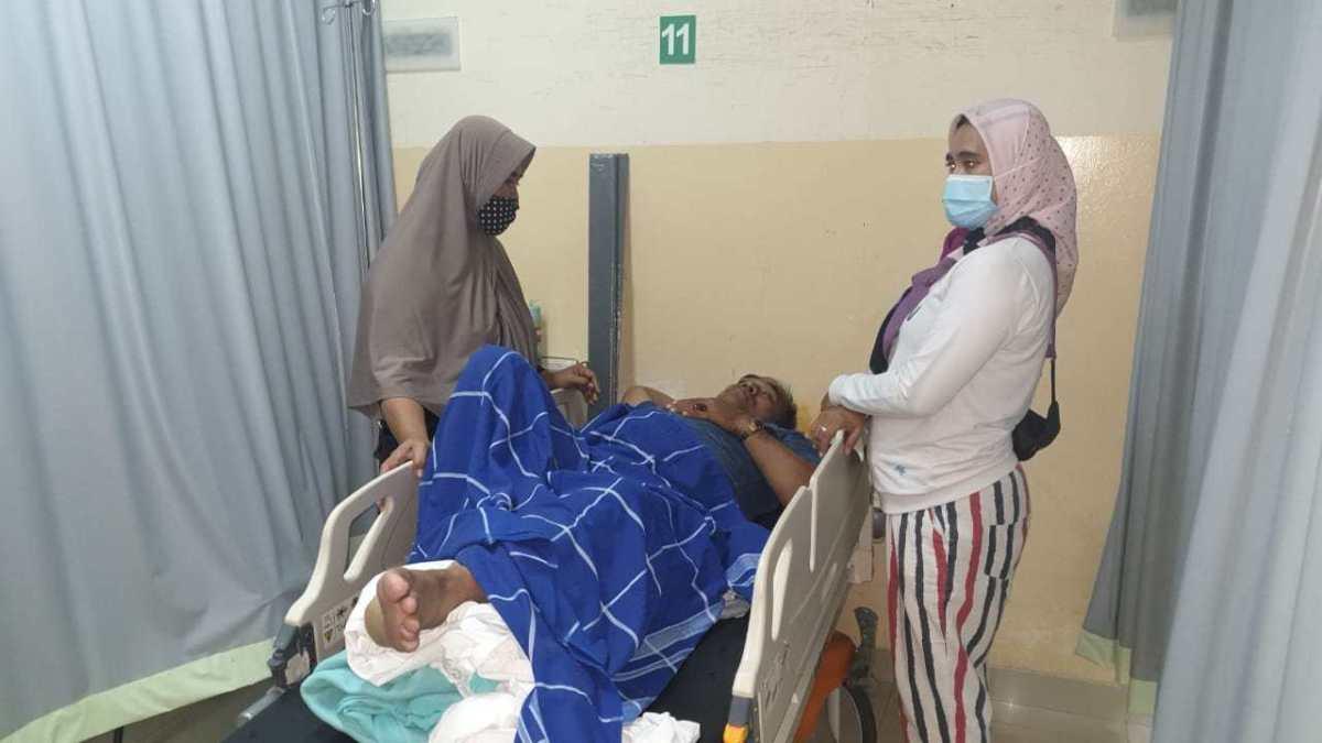 Ditabrak OTK Saat Pasang APK Di Pamulang, Relawan Ben-Pilar Patah Tulang Lutut Kiri