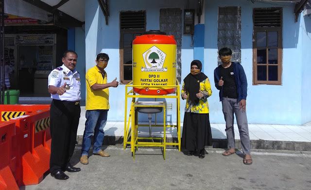 Golkar Sediakan Tangki Air dan Wastafel Portabel di 3 Kecamatan di Aceh Tamiang