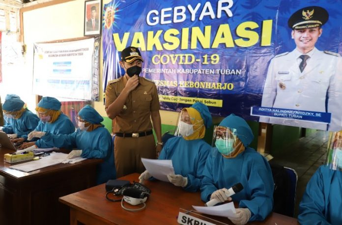 Bupati Aditya Halindra Bangga Masyarakat Tuban Antusias Ikuti Program Vaksinasi COVID-19