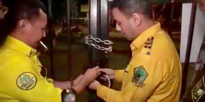 Ilham Permana Kecam Aksi Gembok Pagar DPP Golkar Oleh AMPG