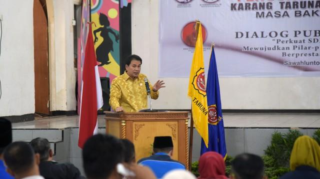 Jangan Berharap Jadi PNS, Azis Syamsuddin Minta Pemuda Inovatif Ciptakan Lapangan Kerja