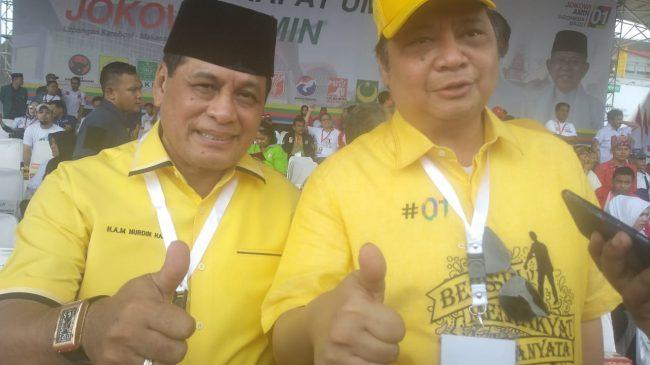 Airlangga Hartarto Janjikan Jokowi Menang 60 Persen di Sulsel