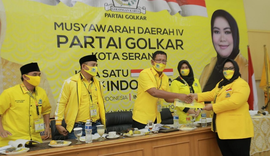 Terpilih Lagi di Musda IV, Ratu Ria Maryana Siap Besarkan Partai Golkar Kota Serang