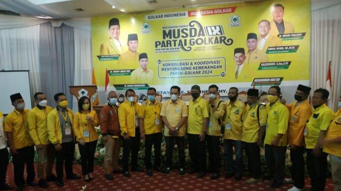 Terpilih Aklamasi Pimpin Golkar Kukar, Hasanuddin Mas'ud Targetkan 19 Kursi DPRD
