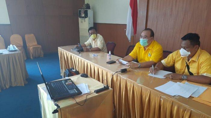 Konsolidasi Saat Pandemi Corona, Sugawa Korry Pimpin Rapat Online Perdana Golkar Bali