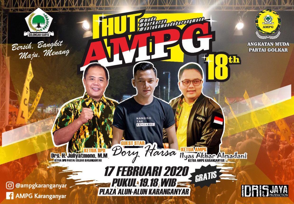 HUT AMPG Ke-18, Penyanyi Ganteng Dory Harsa Bakal Goyang Alun-Alun Karanganyar
