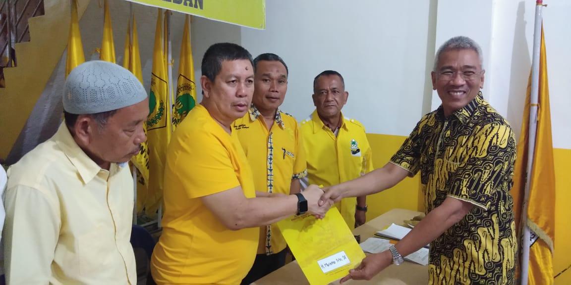 Terpanggil Mengabdi Untuk Kota Medan, Muchrid Nasution Daftar ke Golkar
