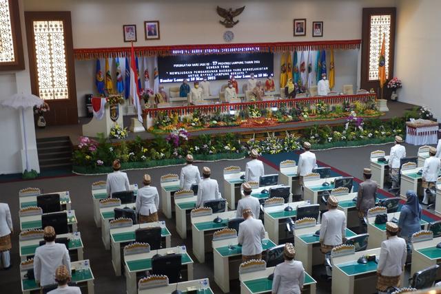 HUT Ke-57 Lampung, Gubernur Arinal Djunaidi Ajak Semua Pihak Gotong Royong Pulihkan Ekonomi