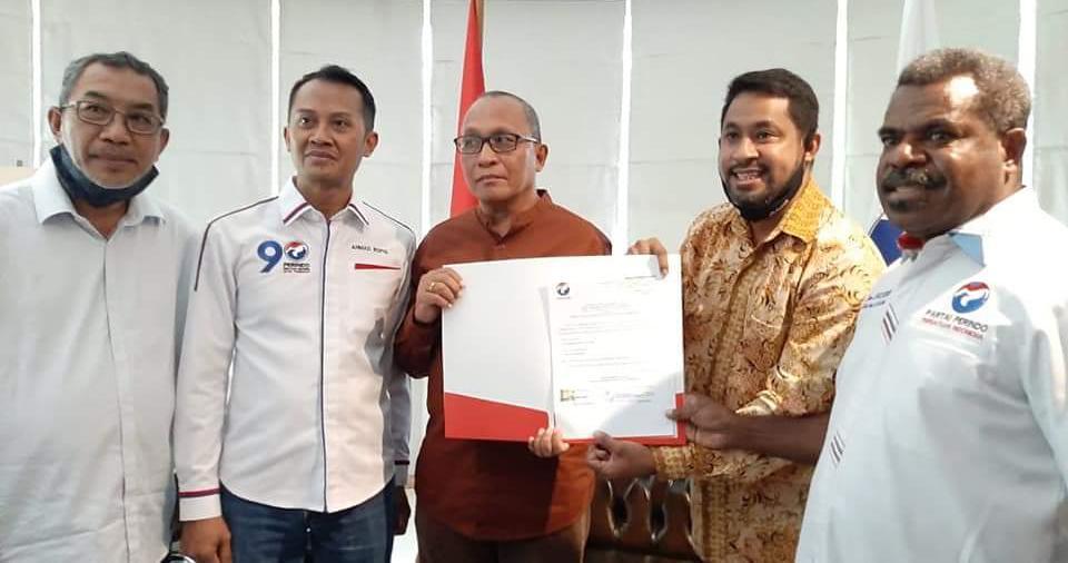 Didukung Perindo, Ali Ibrahim Bauw-Yohanis Manibuy Penuhi Syarat Maju di Pilkada Teluk Bintuni