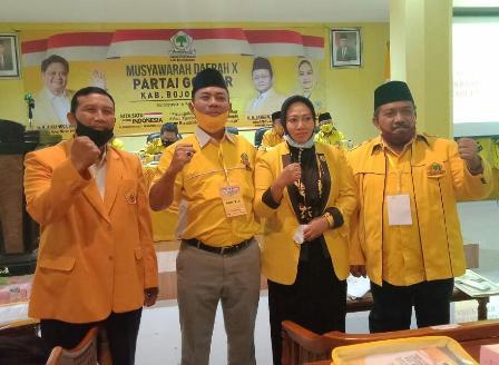 28 PK se-Bojonegoro Aklamasi Pilih Kembali Mitroatin Pimpin Golkar