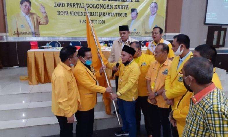 Terpilih Kedua Kali Pimpin Golkar Jakarta Timur, Taufik Azhar Siap Rebut 6 Kursi DPRD