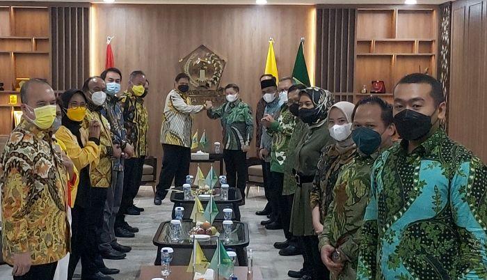 Suharso Monoarfa Sambangi Airlangga Hartarto di DPP Golkar, Samakan Persepsi di Pilpres 2024?