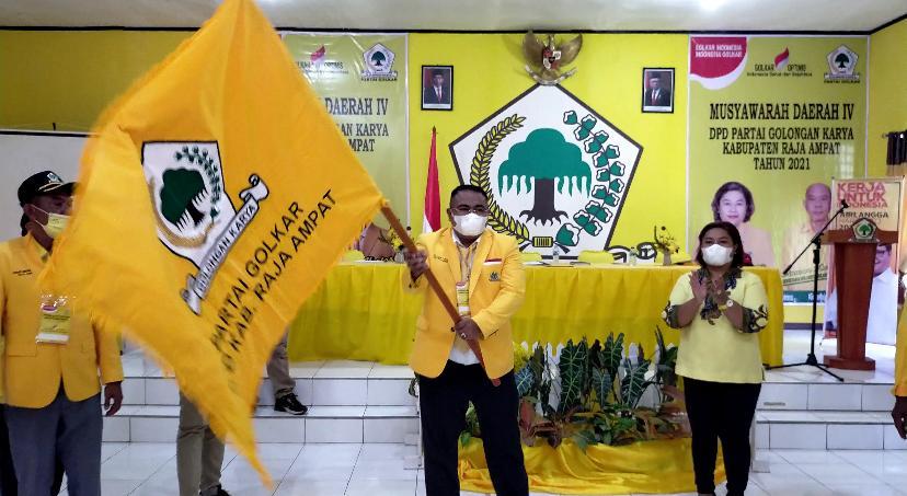 Terpilih Pimpin Golkar Raja Ampat, Hendrik Wairara Siap Menangkan Airlangga Dan Jitmau Di Pemilu 2024