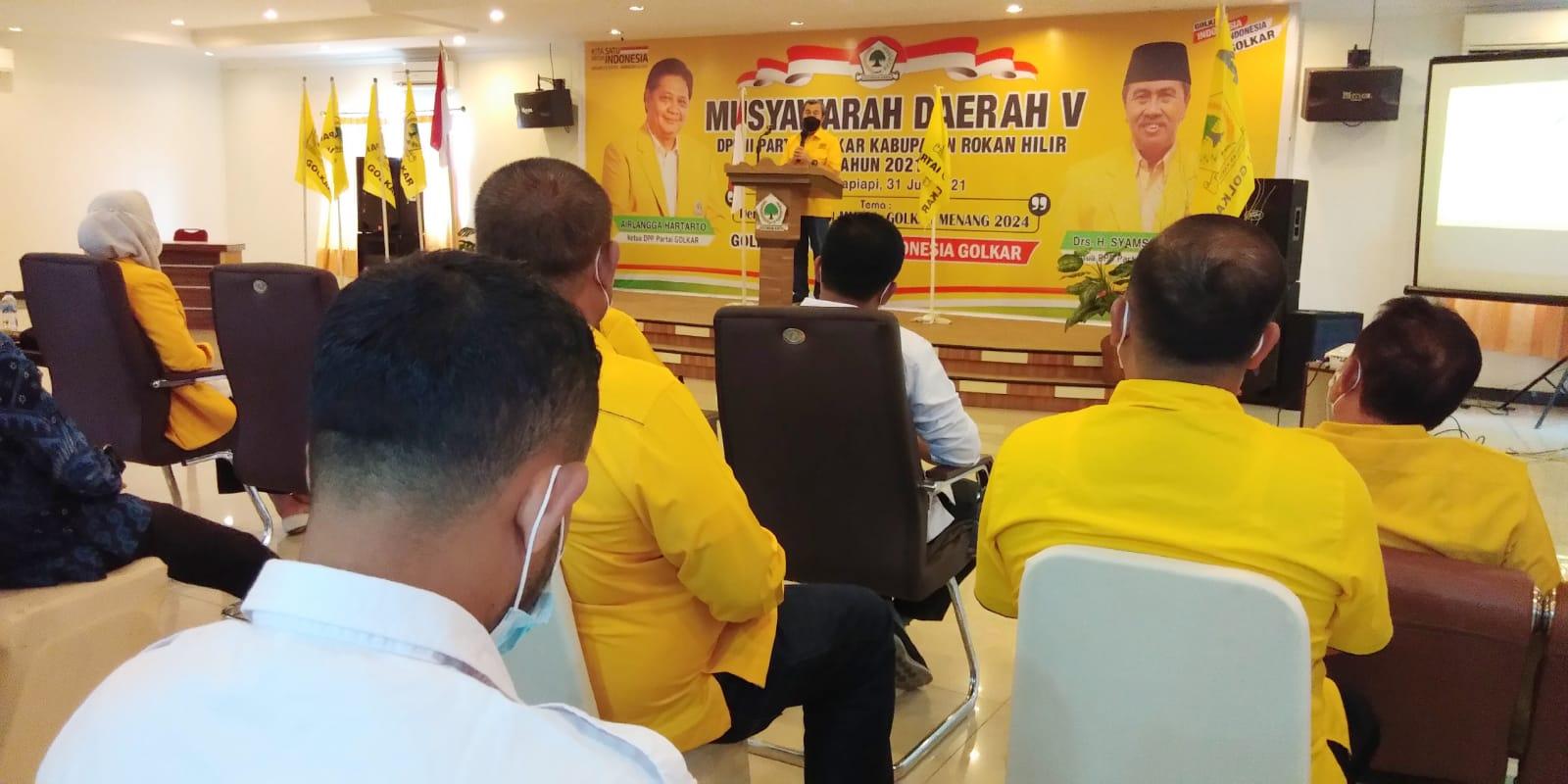 Musda Golkar Rohil, Ketua Golkar Riau Syamsuar: Golkar Tetap di Hati Masyarakat
