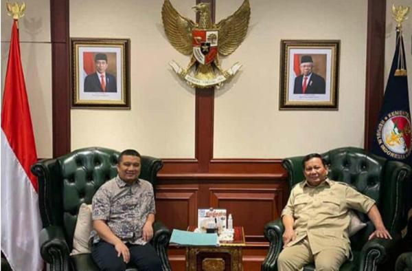 Ketua DPP Golkar Erwin Aksa Sambangi Menhan Prabowo, Bahas Apa?