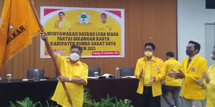 Musdalub Golkar Sumba Barat Daya, Anton Umbu Sasa Terpilih Aklamasi Jadi Ketua