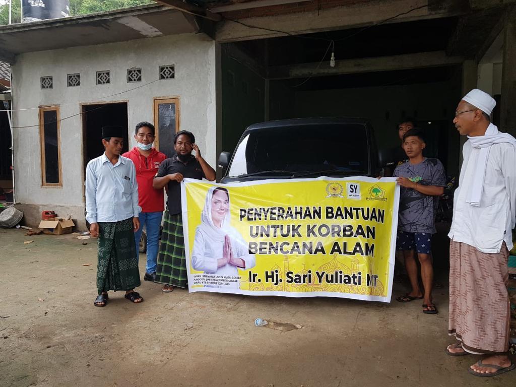 Sari Yuliati Gerak Cepat Salurkan Bantuan Bagi Korban Banjir di Mandalika dan Sekotong