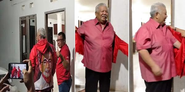 Merasa Dikhianati Golkar, Jimmy Rimba Rogi Pakai Jaket Merah dan Siap Menangkan ODSK di Pilgub Sulut