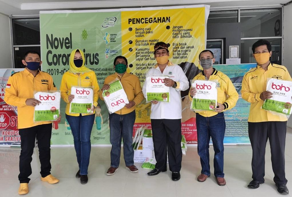 Sidik Jafar Minta Fraksi Golkar DPRD Sumedang Bantu Warga Terdampak COVID-19