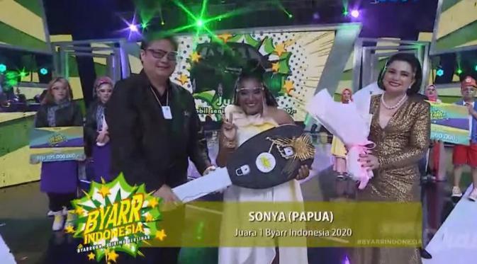 Peserta Dari Papua, Sonia Jadi Pemenang Utama Byarr Indonesia 2020