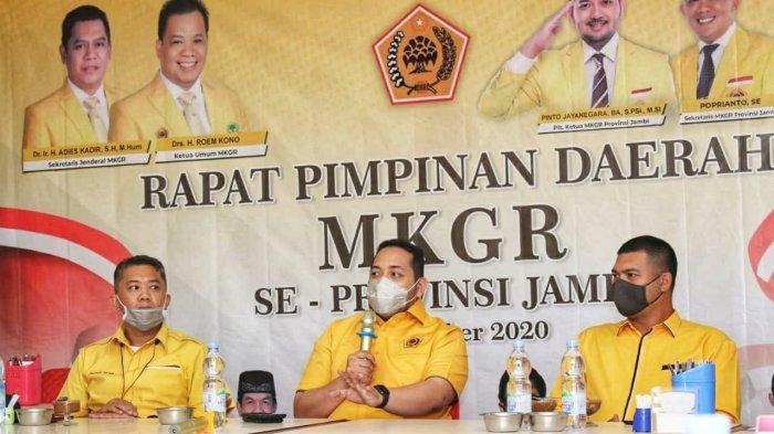 Pinto Jaya Negara Tekankan Ormas MKGR Jambi Solid Usulkan Adies Kadir Ketua Umum, Roem Kono Ketua Majelis Tinggi