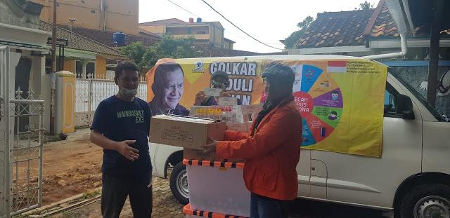 Lodewijk Paulus Serahkan Puluhan Ribu Vitamin C, Masker dan Hand Sanitizer Bagi Insan Pers Lampung