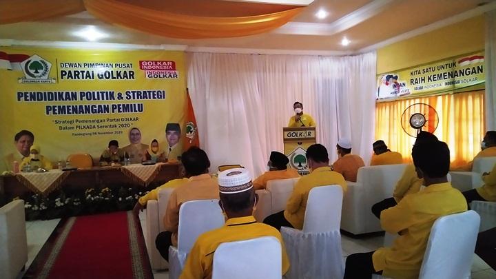 Andika Hazrumy Optimis Kerja Keras Kader Golkar Menangkan Irna-Tanto di Pilkada Pandeglang