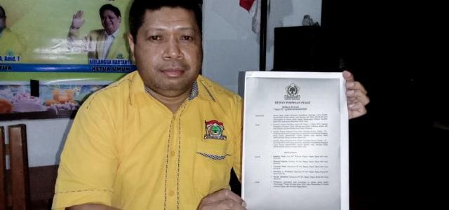 Martinus Werimon Pastikan DPP Bakal Pecat Kader Golkar Yang Membelot di Pilkada Raja Ampat