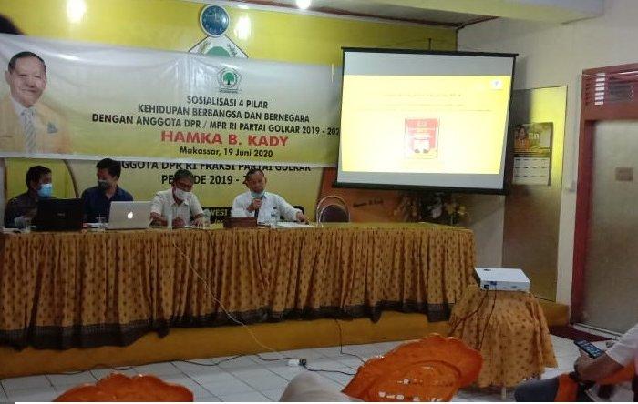 Hamka Baco Kady Blak-blakan Bahas RUU HIP dan New Normal Di Depan Konstituen di Makassar