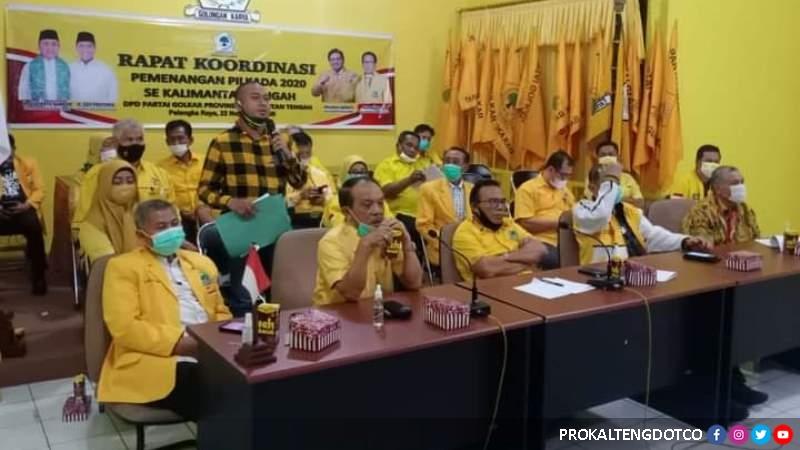Mantapkan Stategi Menangkan Sugianto Sabran-Edy Pratowo, Golkar Kalteng Gelar Rakor Pilkada