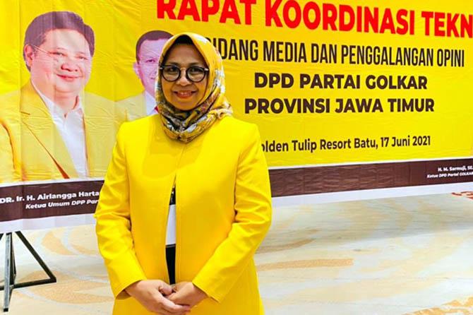 Ketua Golkar Pasuruan, Rias Yudikari Drastika: Airlangga Jenius dan Pekerja Keras Yang Mampu Pulihkan Ekonomi RI