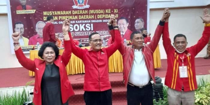 Sangkot Sirait Terpilih Aklamasi Jadi Ketua Depidar II SOKSI Sumut Periode 2020-2025