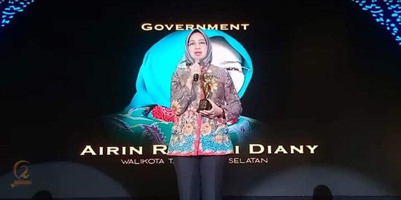 Airin Rachmi Diany Raiih Penghargaan Moeslim Choice Award 2019 Kategori Good Government