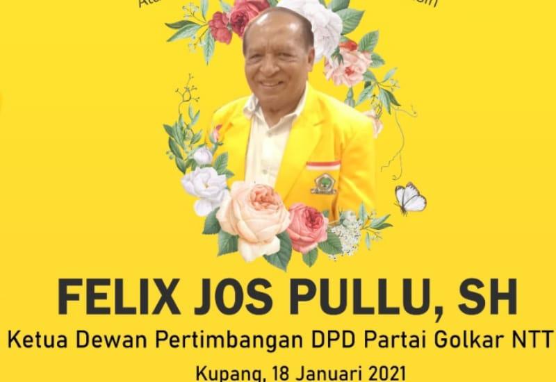 Ketua Dewan Pertimbangan Felix J Pullu Meninggal Dunia, Golkar NTT Berduka