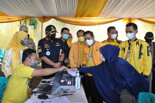 Bupati Tatto Suwarto Pamuji Gandeng Penyintas COVID-19 Cilacap Kampanyekan Prokes