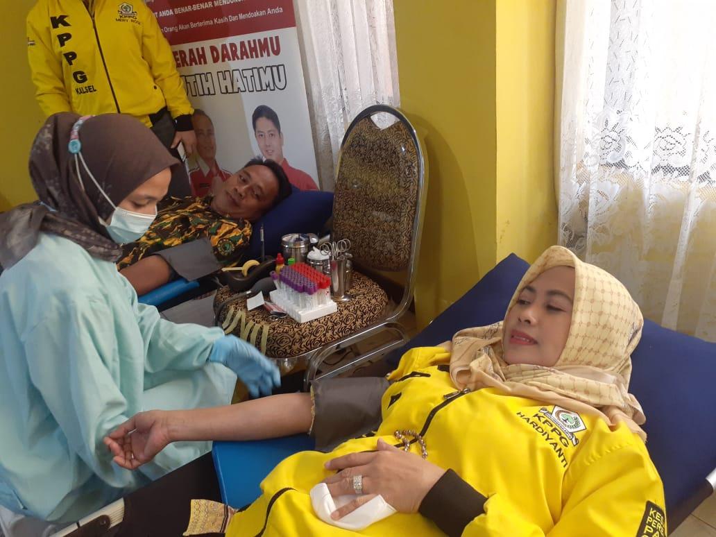 Aksi Kemanusiaan, KPPG dan AMPG Kalsel Gelar Donor Darah 100 Kantong Untuk PMI Banjarmasin